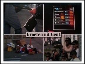 """""""Groeten uit Gent"""" door Vlaams Belang"""